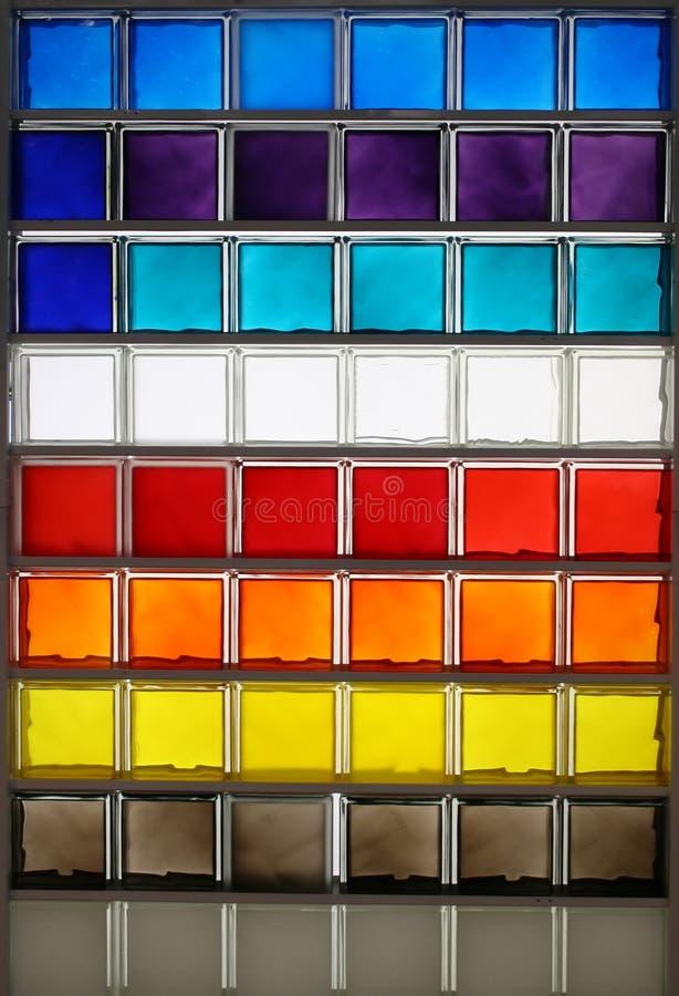 Grand dos en verre de couleur photos stock