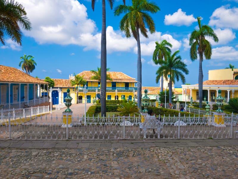 Grand dos principal au Trinidad colonial, Cuba photo stock