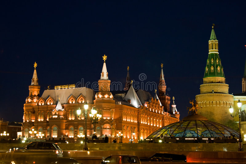 Grand dos rouge à Moscou photo libre de droits