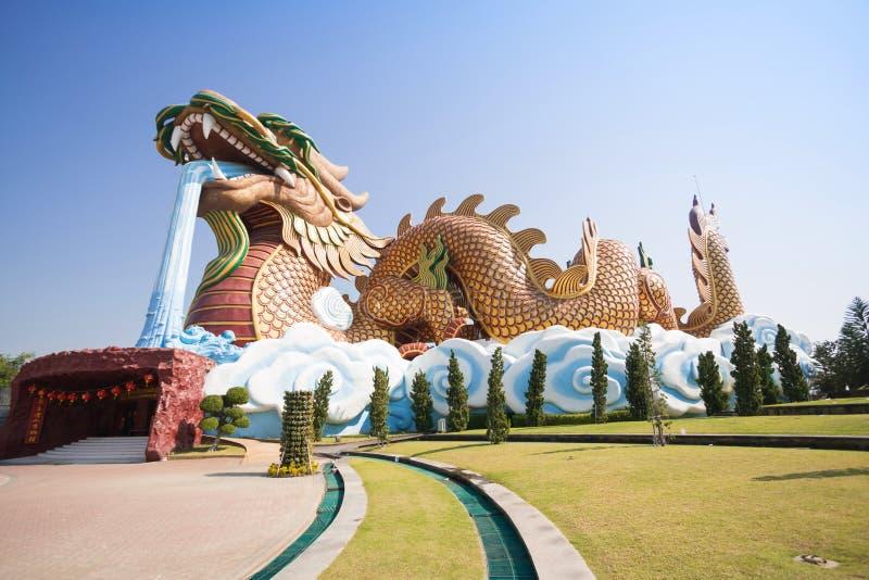 Grand dragon au musée de descendants de dragon photos stock