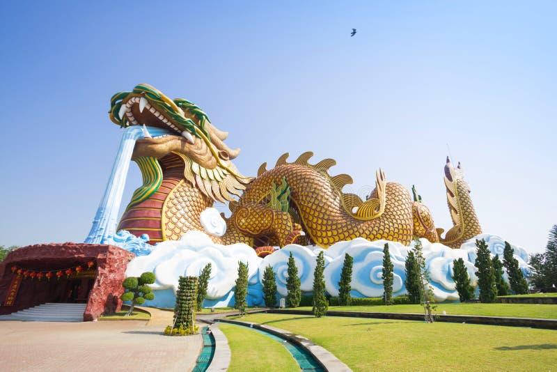 Grand dragon au musée de descendants de dragon photographie stock