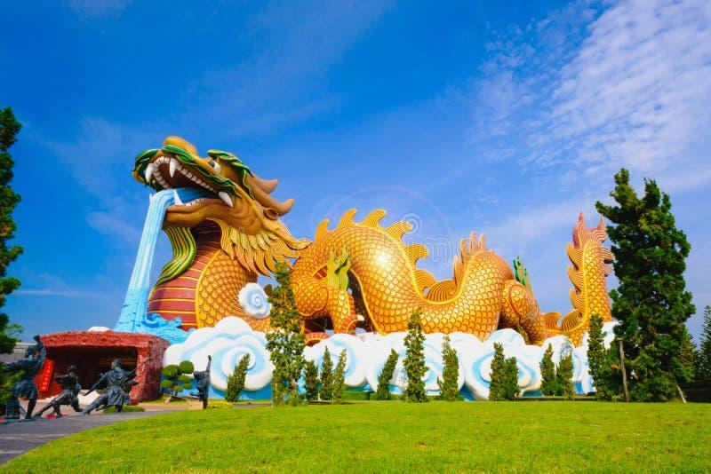 Grand dragon au musée de public de descendants de dragon photographie stock libre de droits