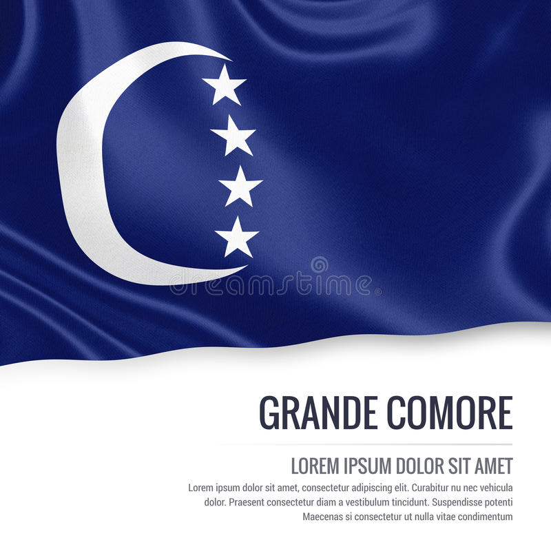Grand drapeau de Comore d'état comorien illustration de vecteur