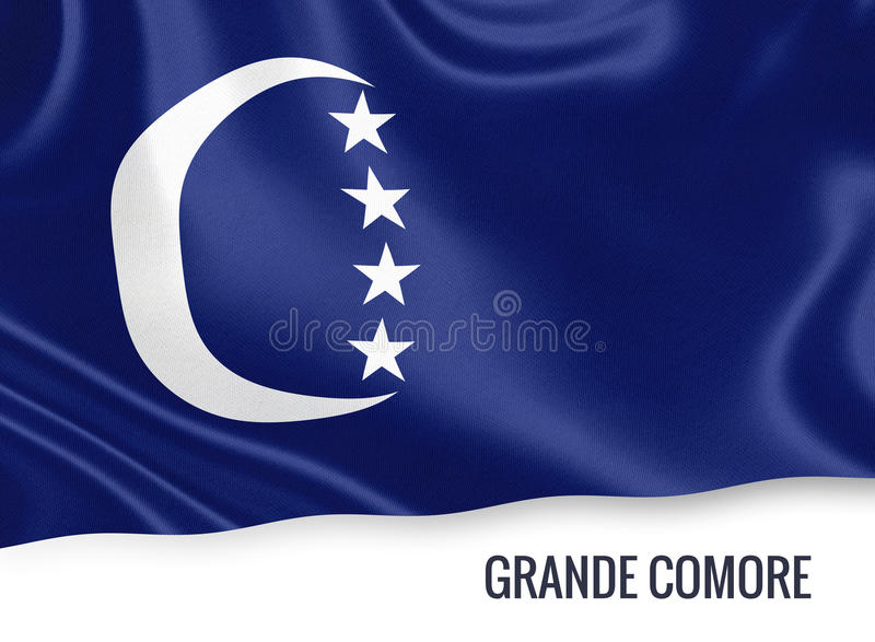Grand drapeau de Comore d'état comorien illustration stock
