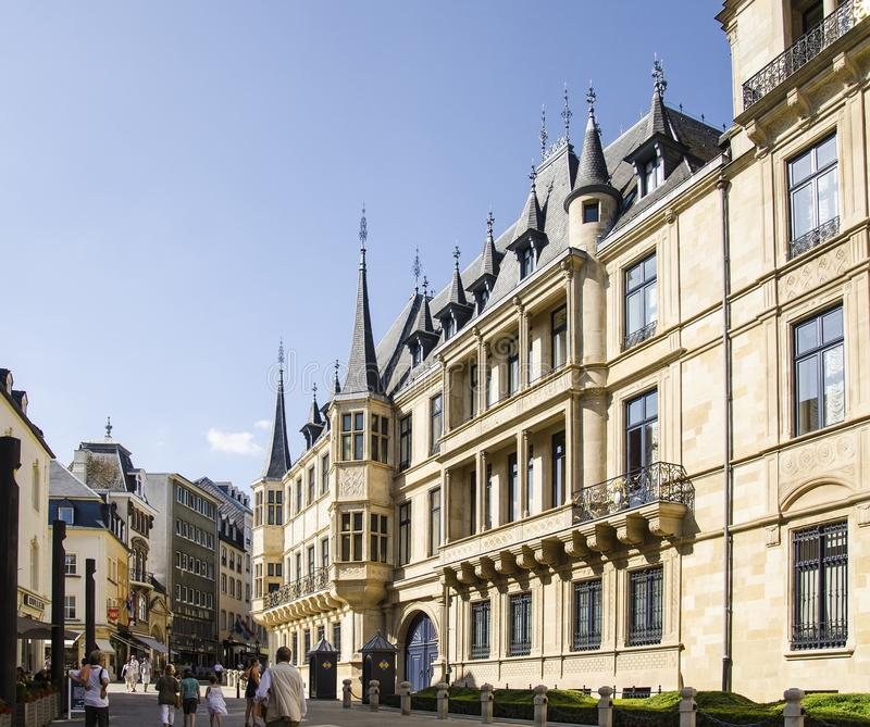 Grand Ducal Palace in Luxembourg city stock image