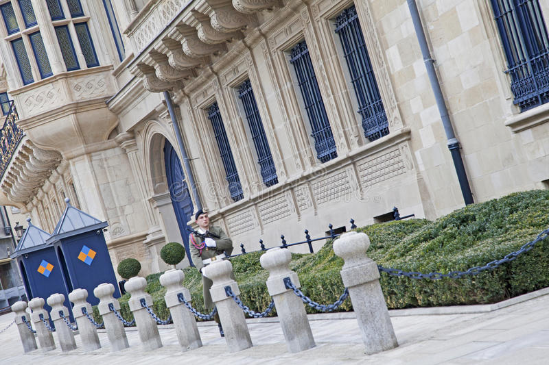 Palais Grand Ducal in Luxembourg stock photos