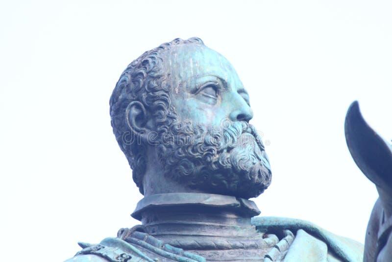 Grand Duke Cosimo I. Equestrian monument to Grand Duke Cosimo I, Florence, Piazza della Signoria stock photography