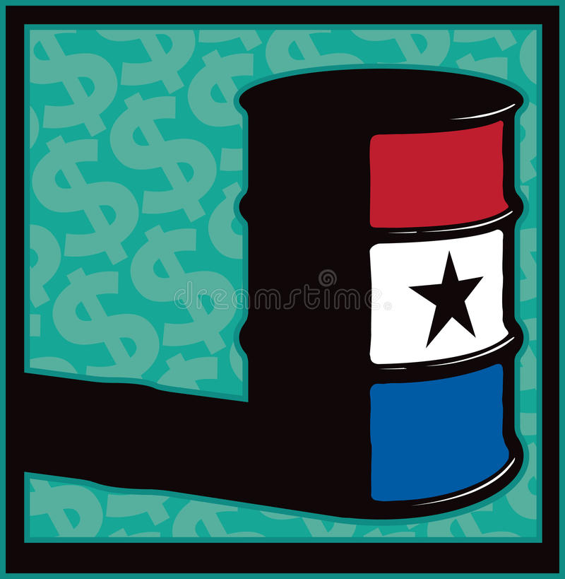 Grand emballage de baril d'argent illustration libre de droits