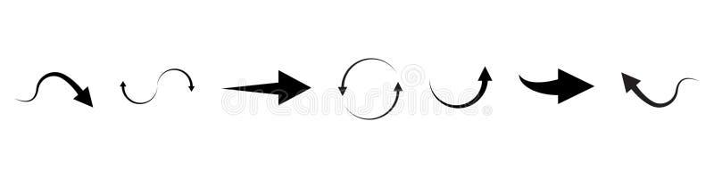 Grand ensemble de tireur superbe et méga Flèches de conception graphique de vecteur illustration de vecteur