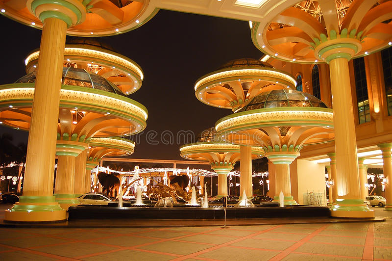 The grand entrance at Malaysia's Sunway Resort Hotel and Spa. Kuala Lumpur, Malaysia – October 18, 2006: The grand entrance at the beautiful Sunway Resort stock photo