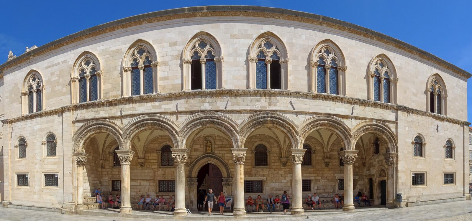 The Grand Entrance to the Rector`s Palace royalty free stock photo