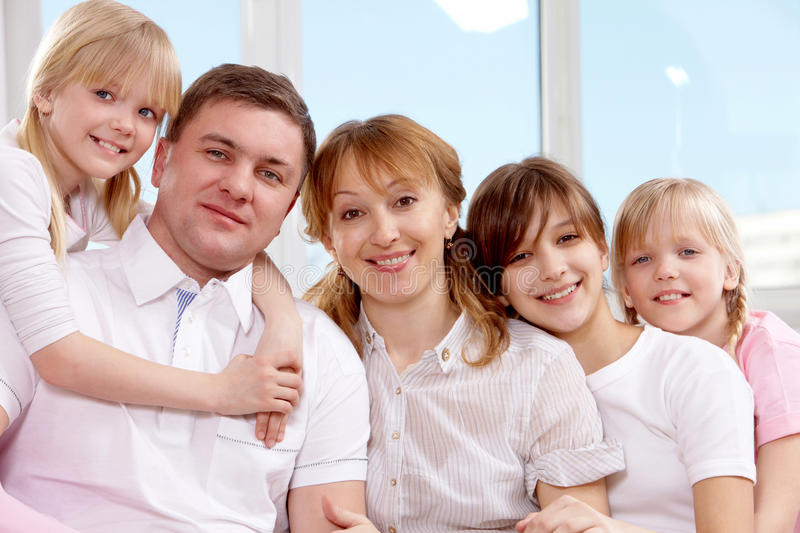Grand famille image stock