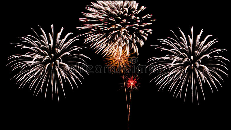 Grand feu d'artifice image stock
