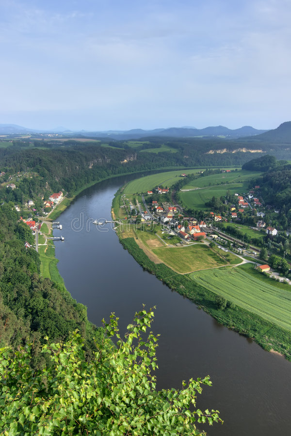 Grand fleuve photographie stock