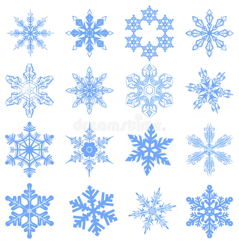Grand flocon de neige d'ensemble Éclaille de neige illustration stock