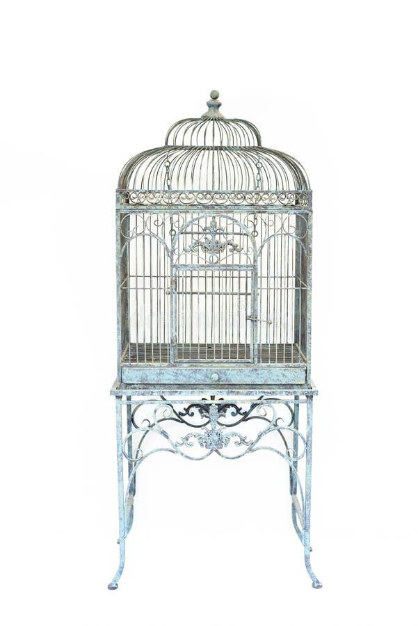 Grand fond d'isolement de vintage de cage à oiseaux par style
