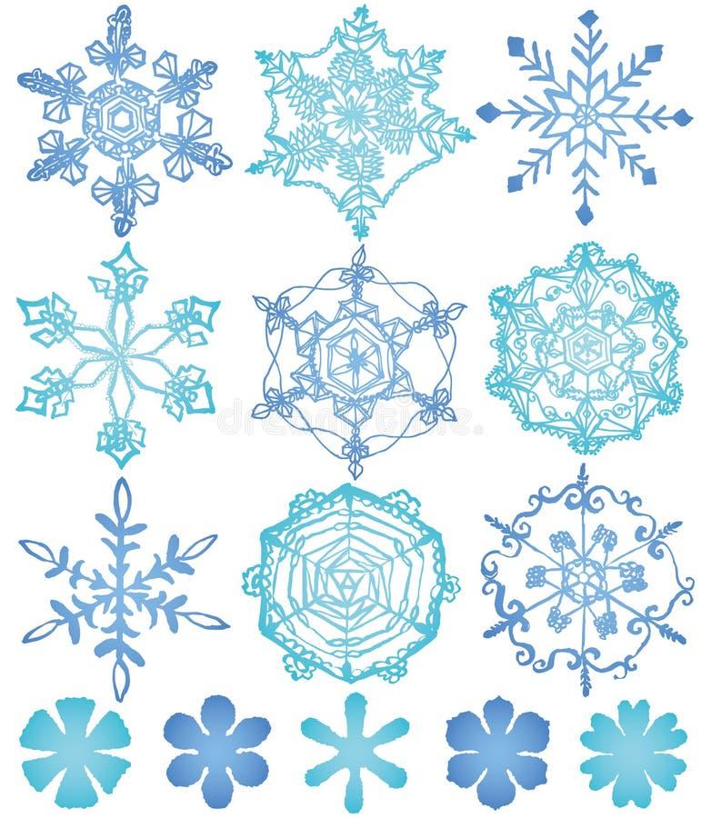 Grand fond de cristaux de neige illustration libre de droits
