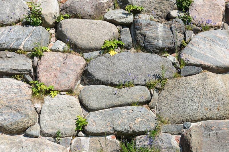 Grand fond de mur de rochers images libres de droits