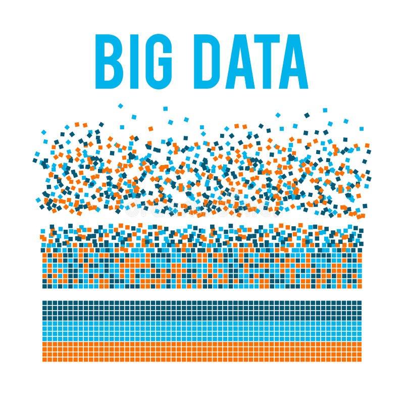 Grand fond de vecteur de visualisation de données illustration de vecteur