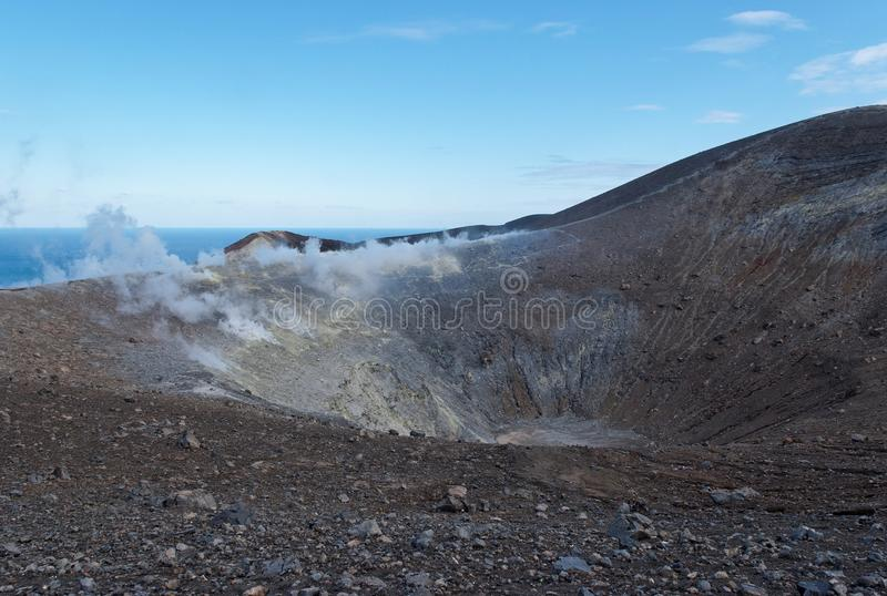 Download Grand (Fossa) Crater Of Vulcano Island Near Sicily Stock Photo - Image of boulders, lava: 29000380