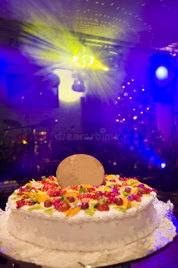 Grand gâteau photo stock