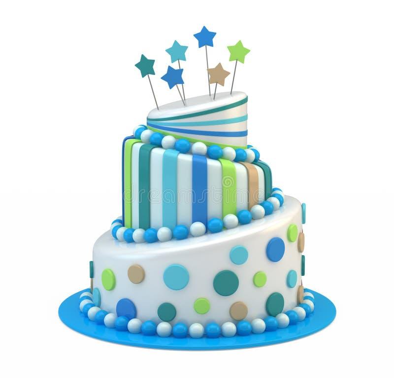 Grand gâteau de vacances illustration libre de droits