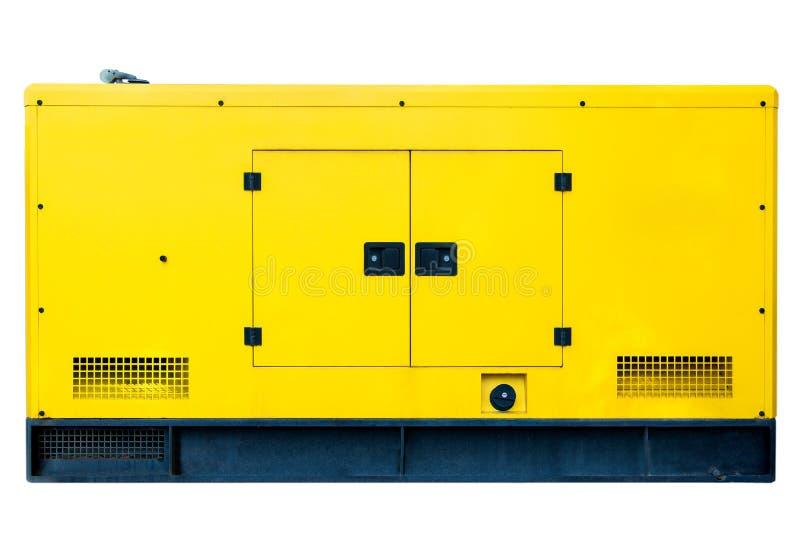 Grand générateur diesel de secours pour l'usage commercial image libre de droits