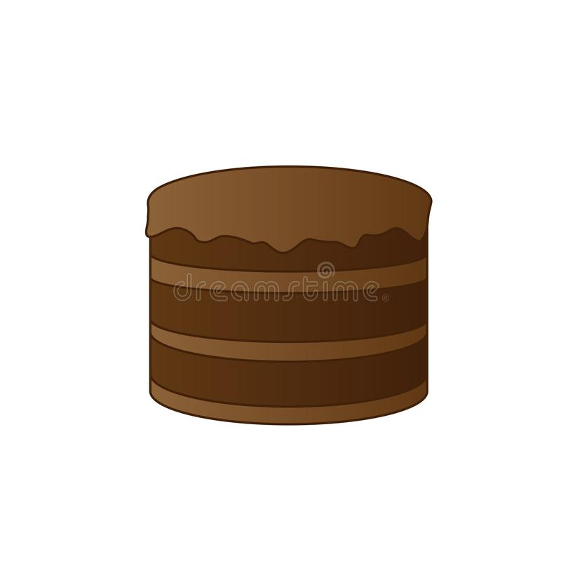 Grand g?teau de chocolat illustration stock