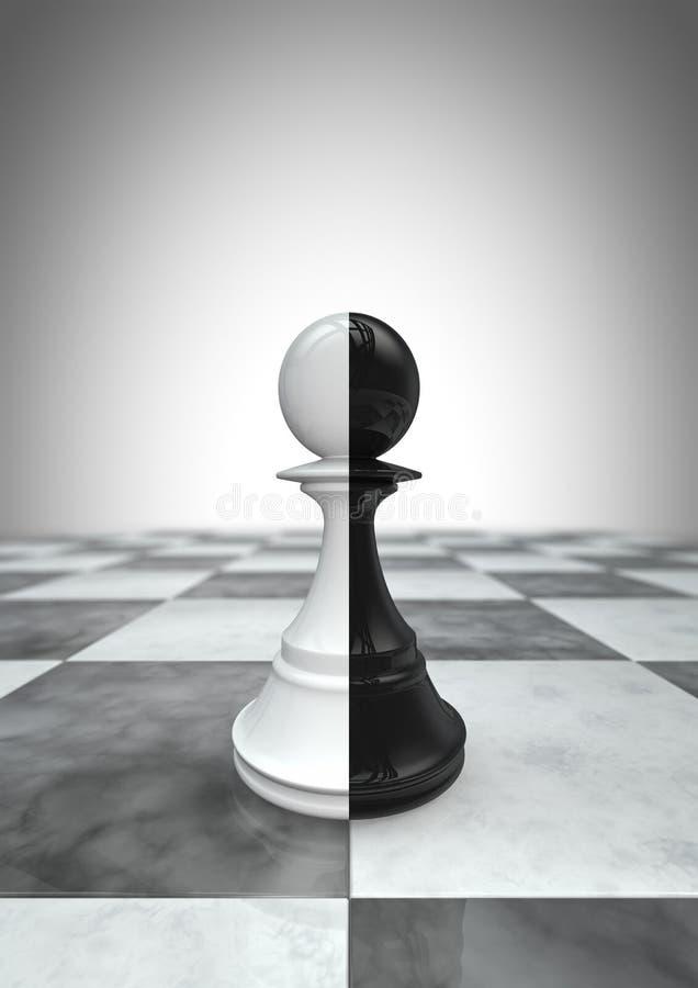 Grand gage noir et blanc illustration libre de droits