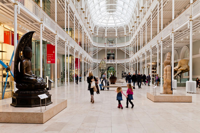 Grand Gallery-National Museum of Scotland stock photography