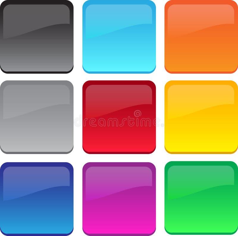 Grand gel/boutons en verre illustration libre de droits