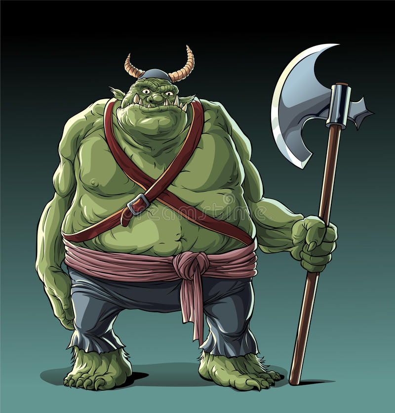 Grand gros troll illustration de vecteur
