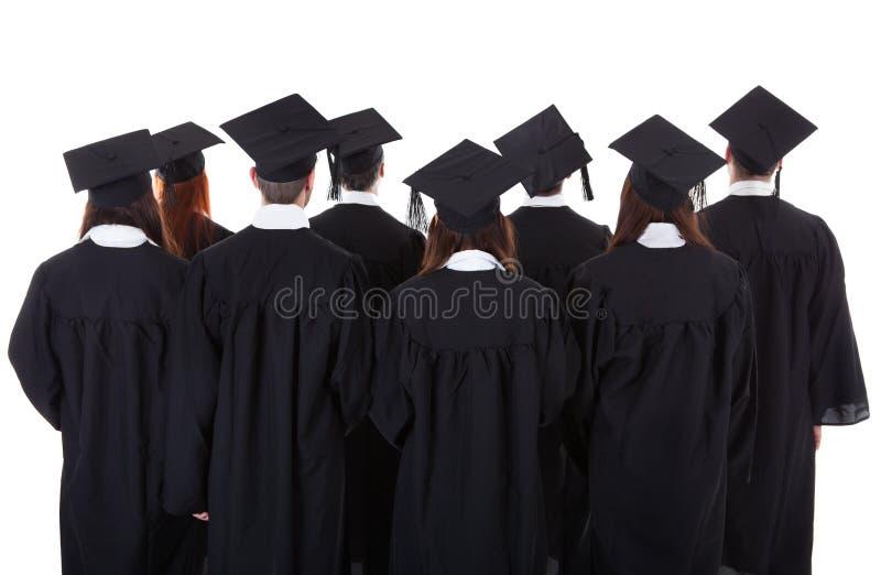 Grand groupe de graduation d'étudiants images stock