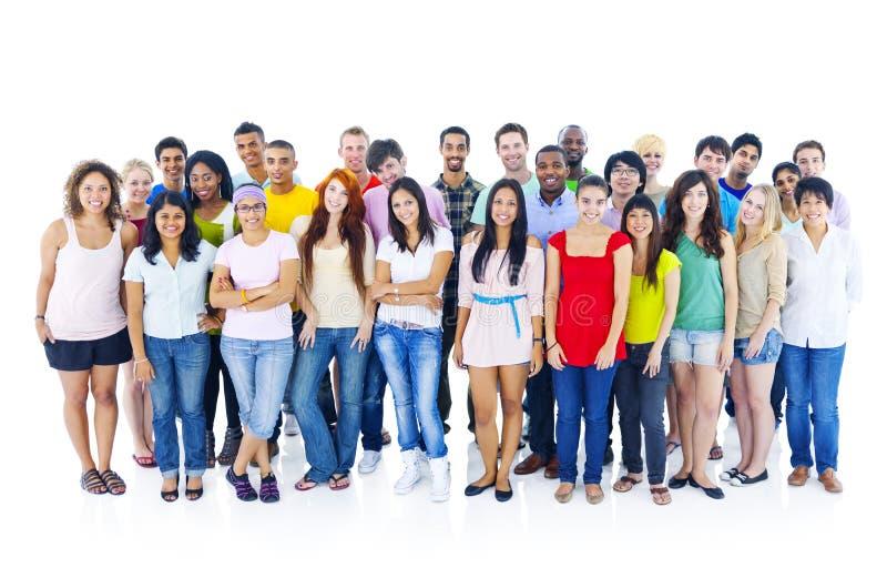 Grand groupe de personnes divers photo libre de droits