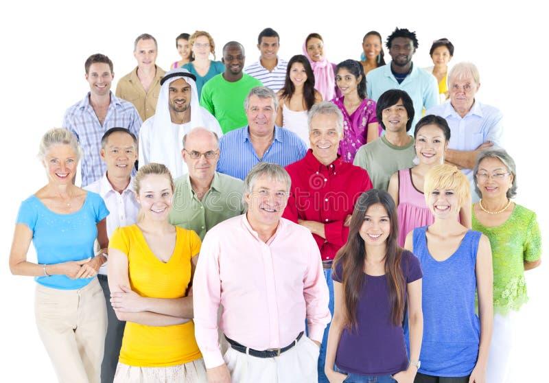 Grand groupe de personnes du monde photo libre de droits