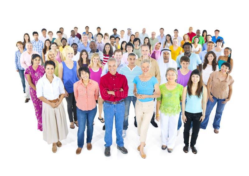 Grand groupe de personnes du monde photos libres de droits