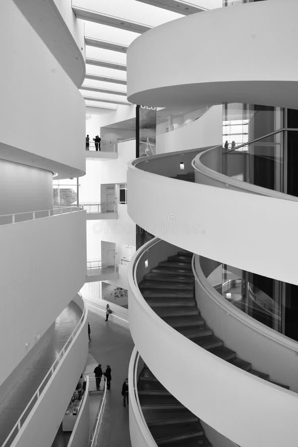 Grand Hall, ARoS Art Museum, Aarhus, Denmark stock photography
