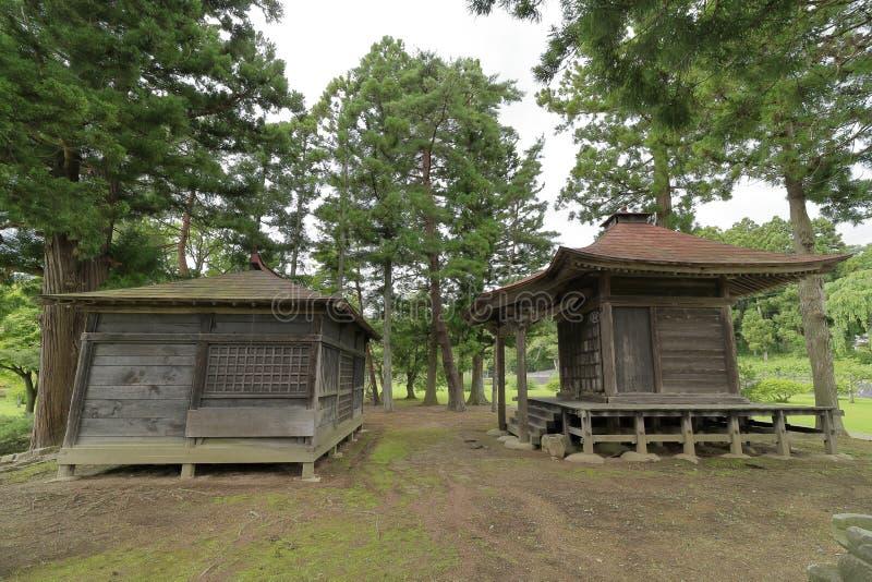 Grand hall d'Amida de Kanjizaio-dans des ruines images libres de droits