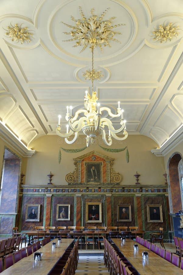 Grand hall, université d'église du Christ, Oxford image stock