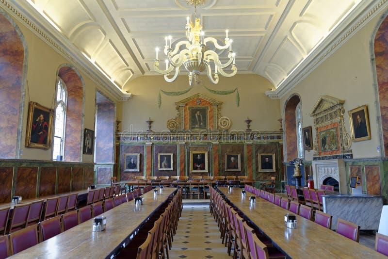 Grand hall, université d'église du Christ, Oxford image libre de droits