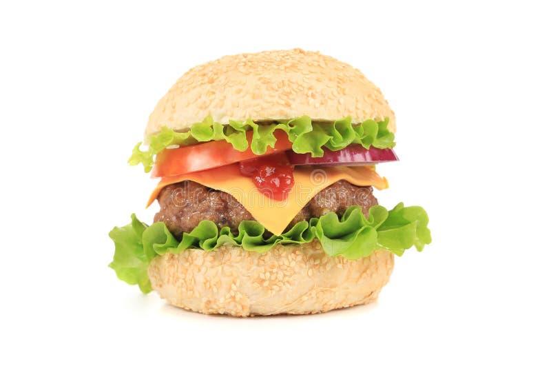 Grand hamburger savoureux photos libres de droits