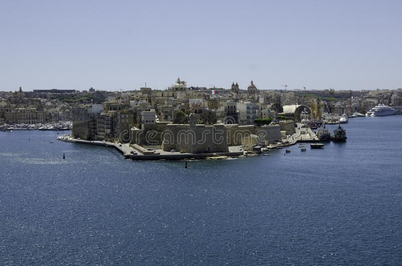 Grand Harbour Valletta Malta stock photo
