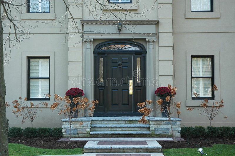 Grand Home Entrance royalty free stock photography