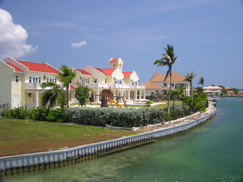 Download Grand Homes Along The Water On Grand Cayman 2 Stock Photos - Image: 1993223