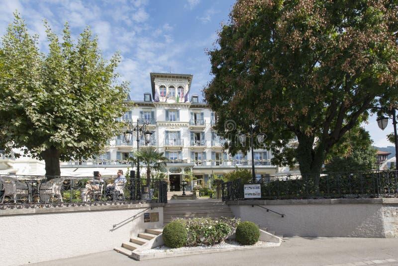 Grand Hotel Du Lac Vevey Switzerland Editorial Photo Image of