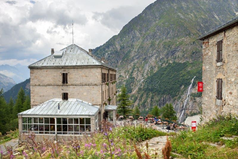 Grand Hotel du Montenvers en Chamonix, Francia imágenes de archivo libres de regalías