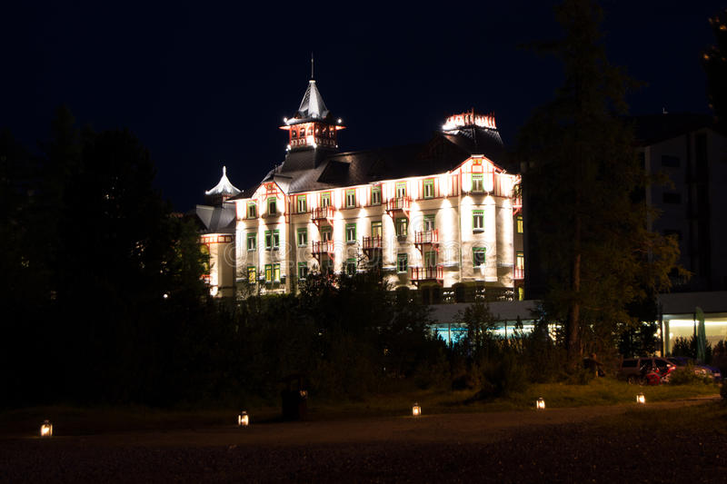 Grand Hotel in the High Tatras royalty free stock photos