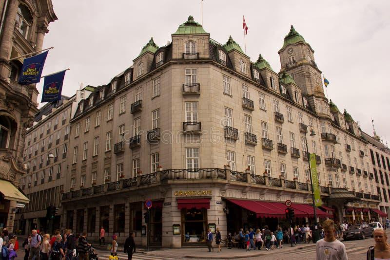 Grand Hotel i Oslo fotografering för bildbyråer