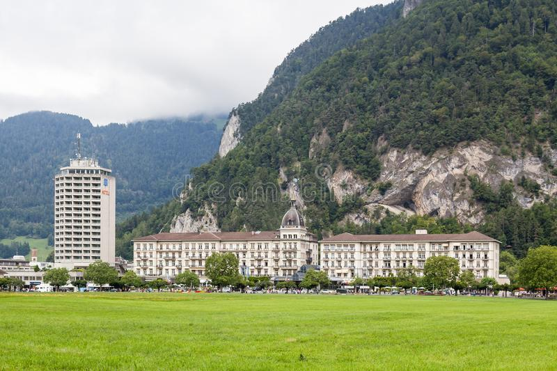 Grand Hotel Interlaken, Switzerland royalty free stock image