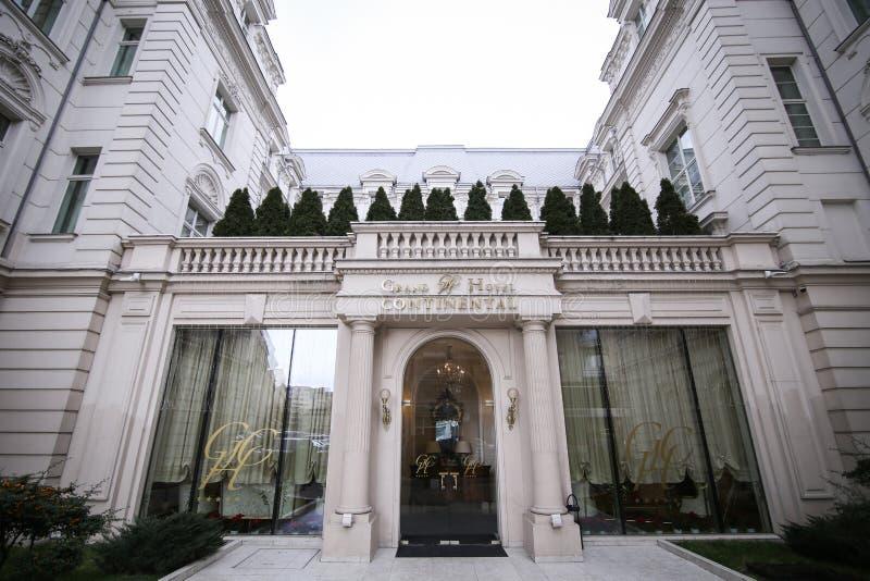 Grand Hotel Kontynentalny budynek w Bucharest obrazy stock